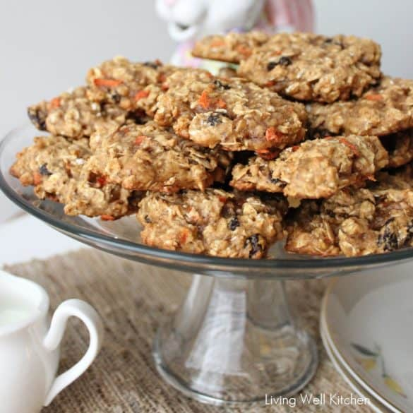 Carrot Oatmeal Raisin Cookies from Living Well Kitchen
