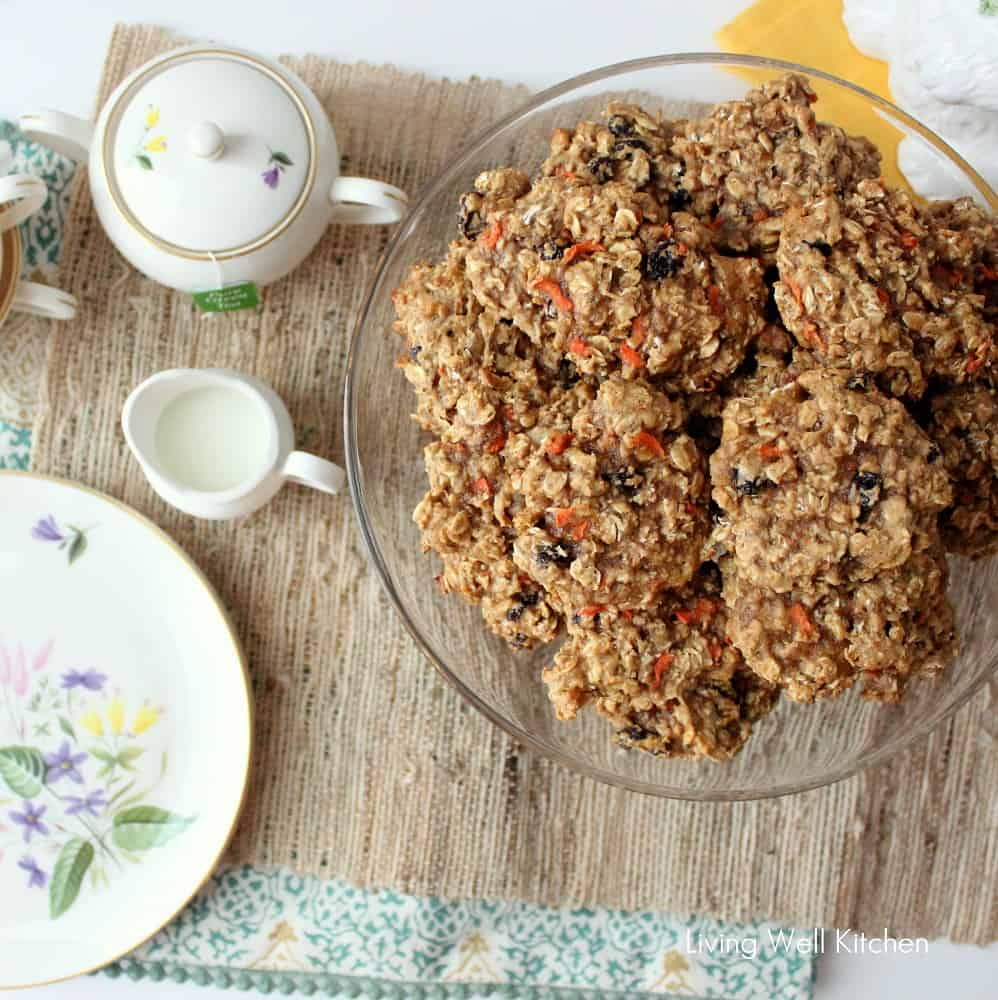 Carrot Oatmeal Raisin Cookies from Living Well Kitchen1
