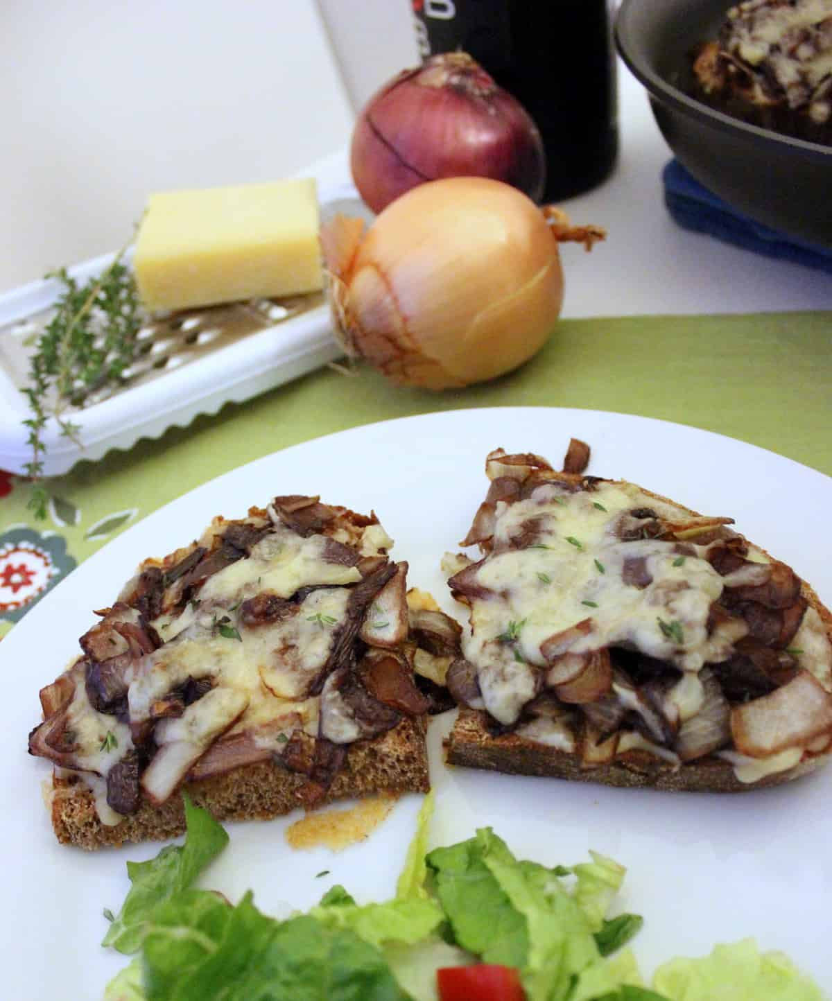 Caramelized Onion and Gruyere Grilled Cheese from Living Well Kitchen