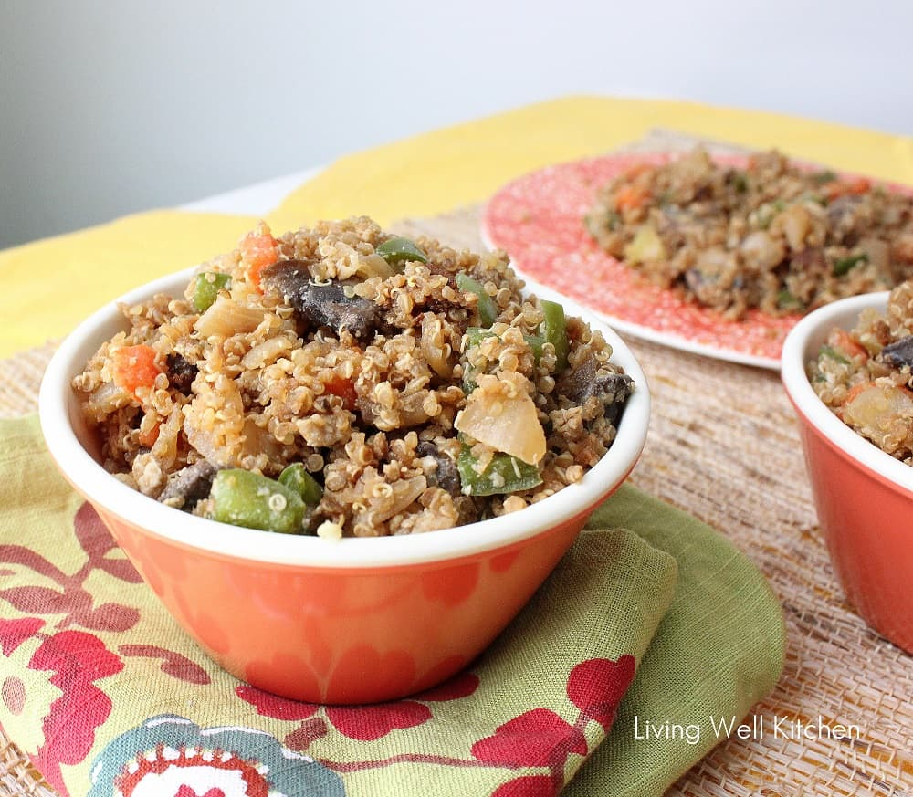 Veggie Fried Quinoa from Living Well Kitchen