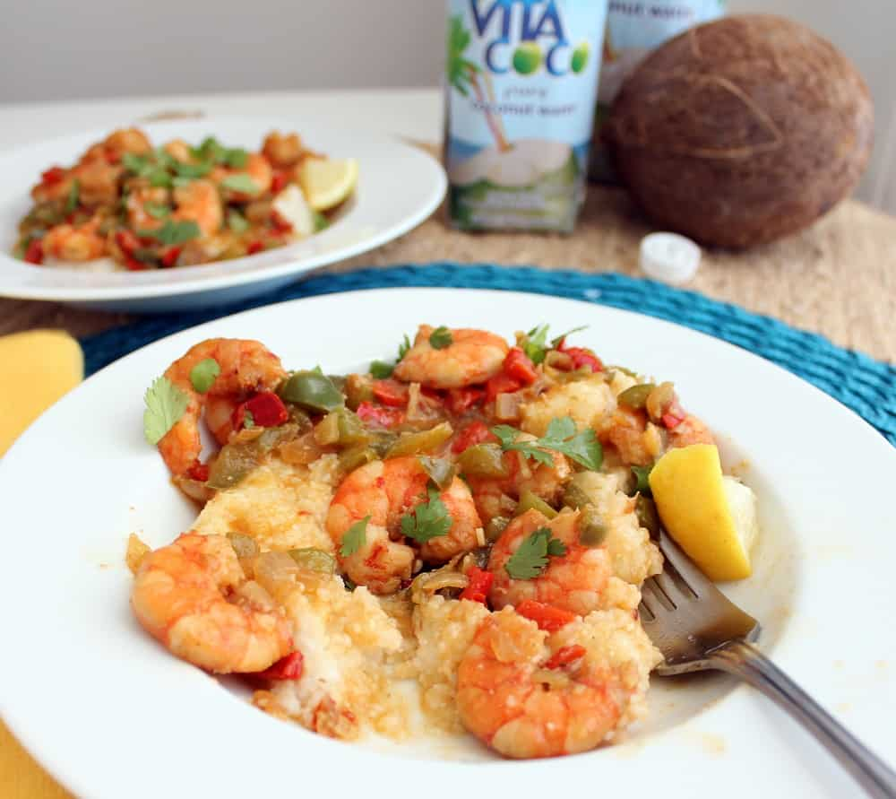 Coconut Shrimp & Grits from Living Well Kitchen