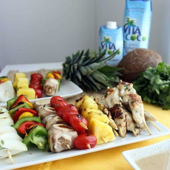 Coconut Chicken Kabobs from Living Well Kitchen