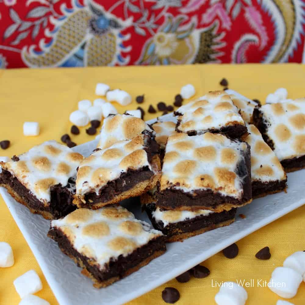Healthier S'mores Brownies from Living Well Kitchen