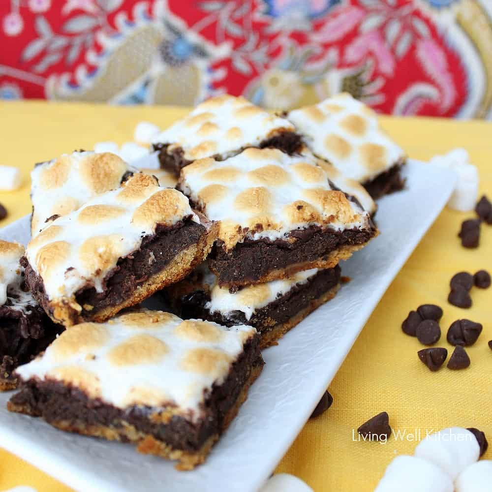 Healthier S'mores Brownies from Living Well Kitchen2