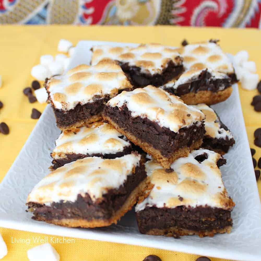Healthier S'mores Brownies from Living Well Kitchen1