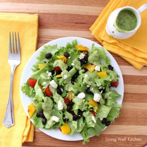 Avocado Cilantro Dressing from Living Well Kitchen