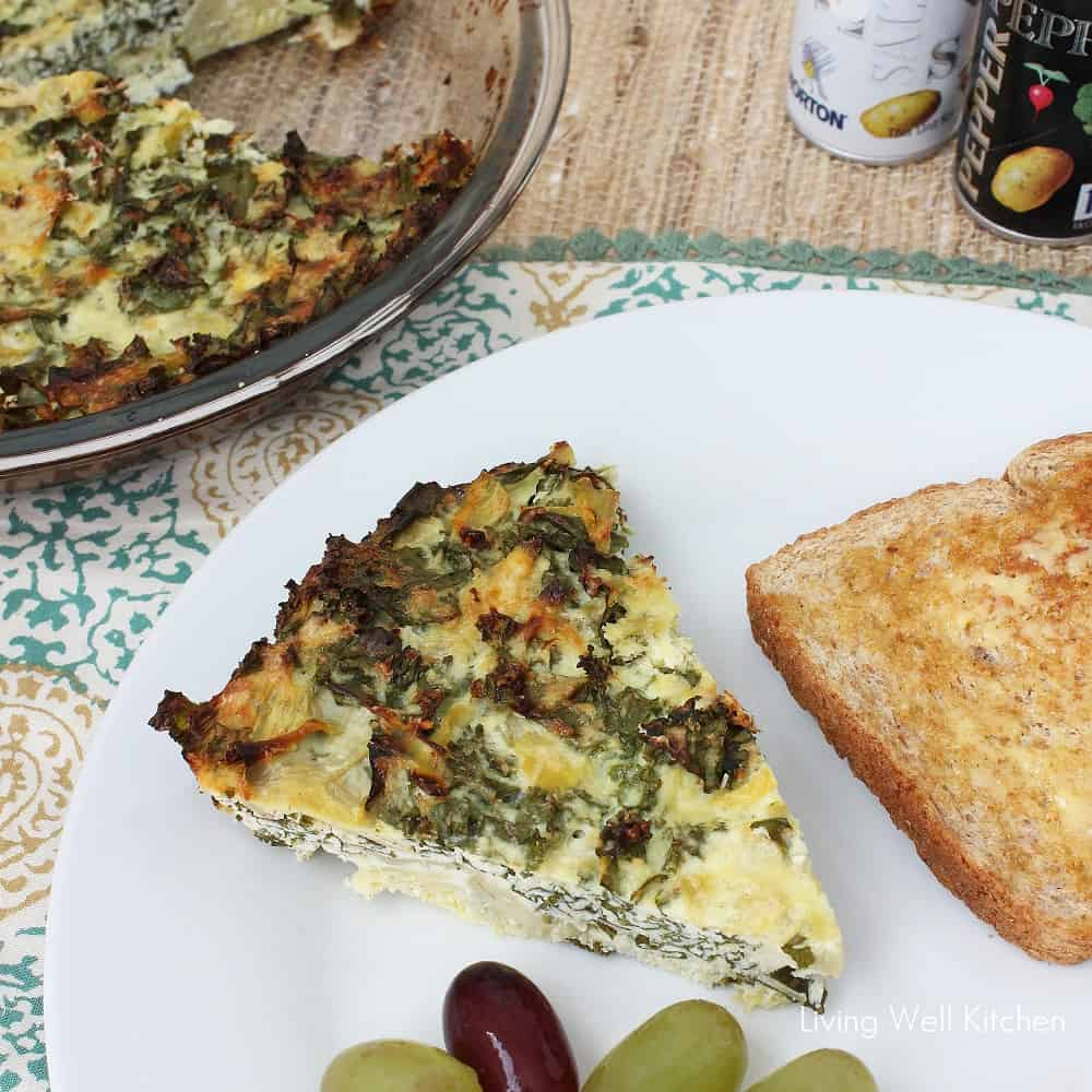 Kale, Artichoke, and Ricotta Pie from Living Well Kitchen