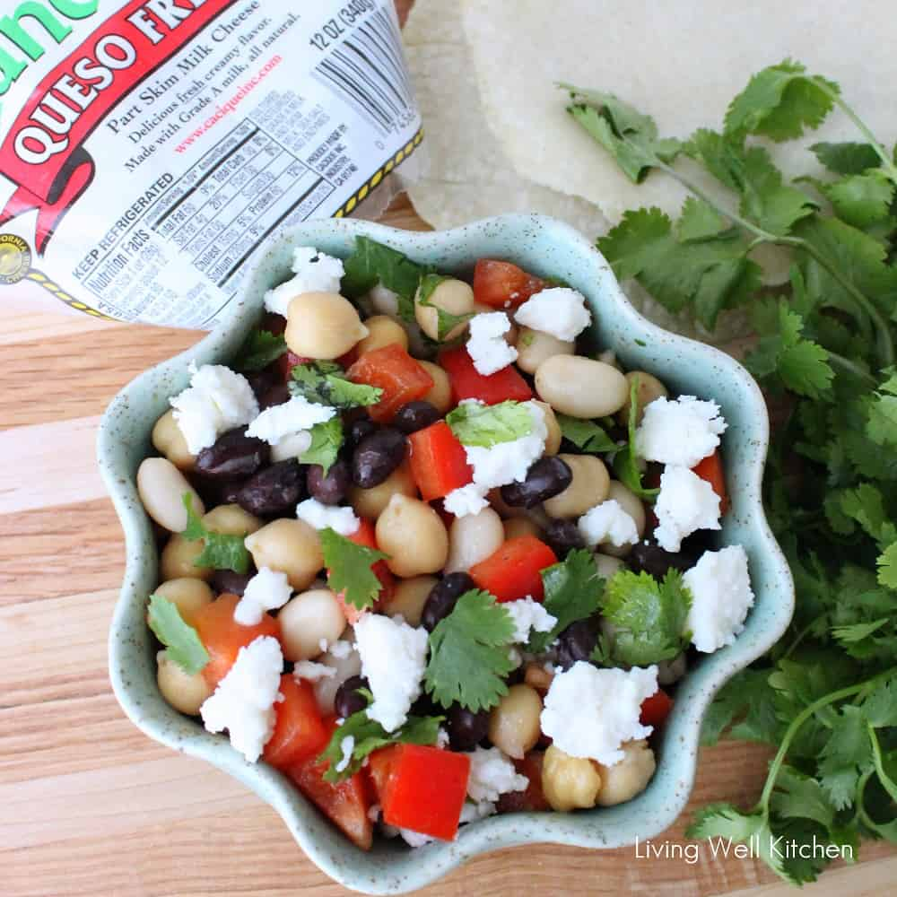 Mexican Three Bean Salad from Living Well Kitchen