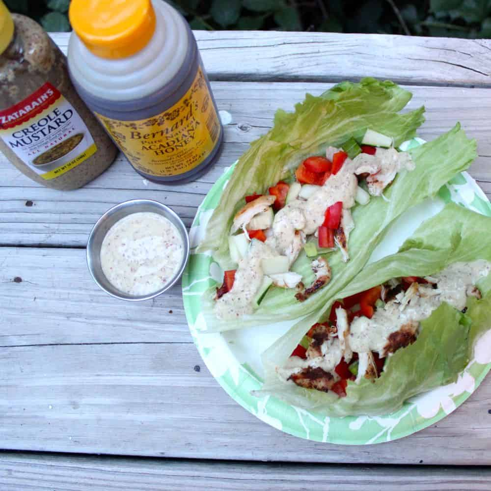 Creole Honey Mustard Lettuce Wraps from Living Well Kitchen