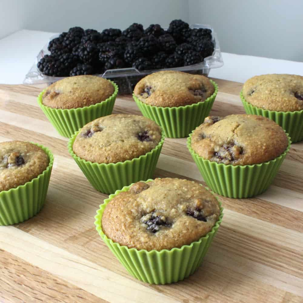 Blackberry Almond Muffins from Living Well Kitchen