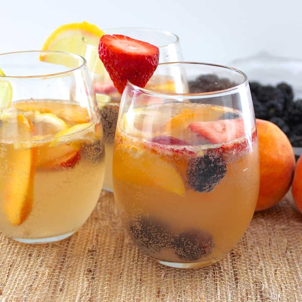 White Peach Sangria Recipe — Dishmaps