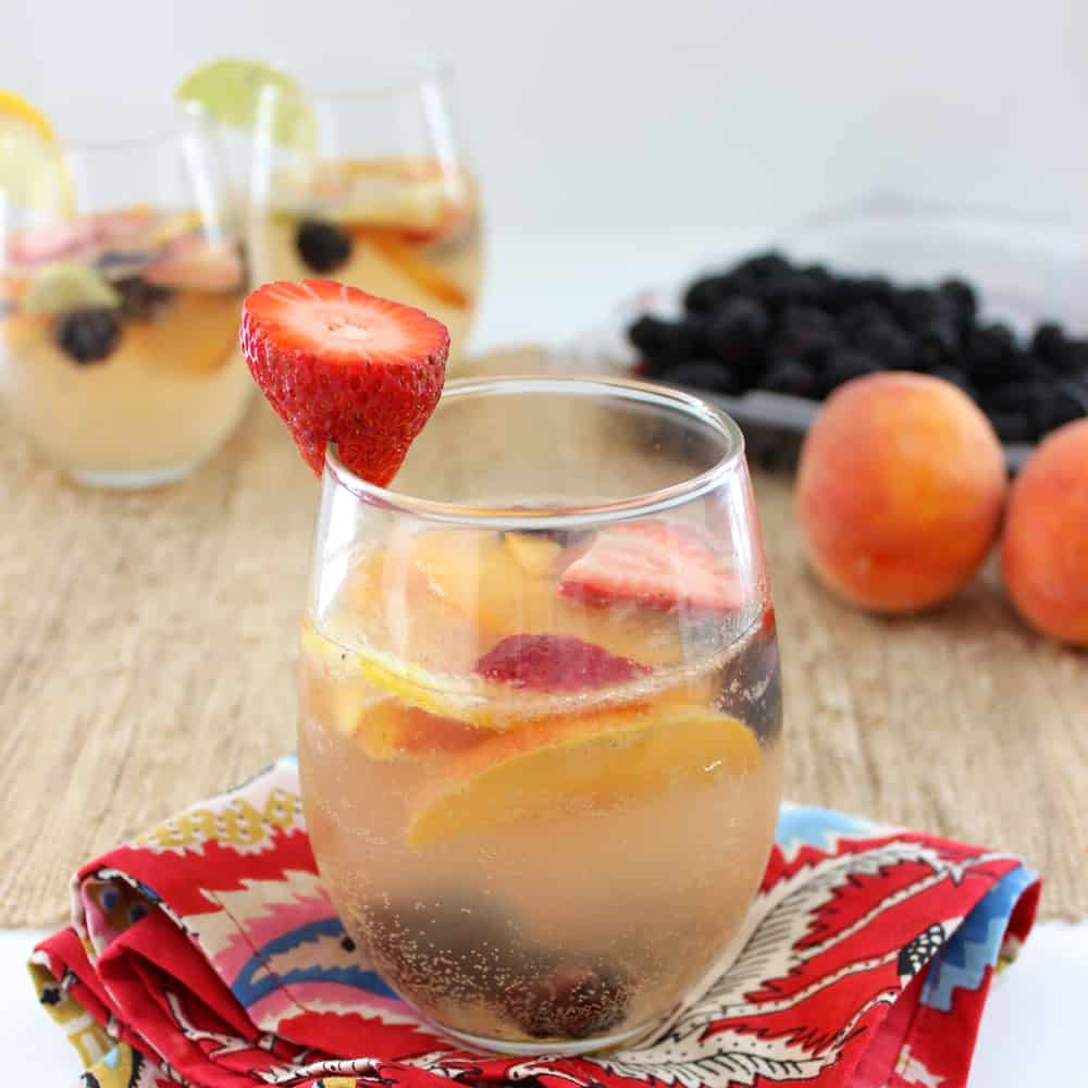 Berry Peach Sangria from Living Well Kitchen