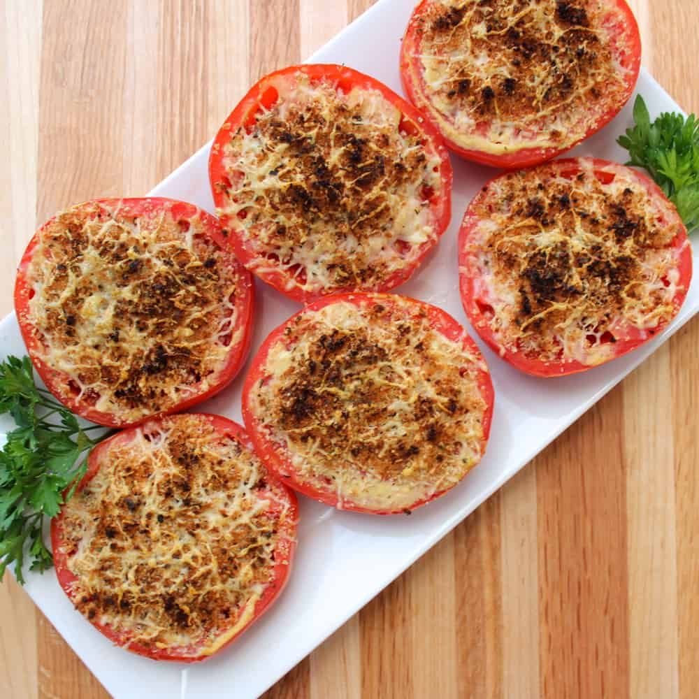 broiled tomatoes with bread crumbs