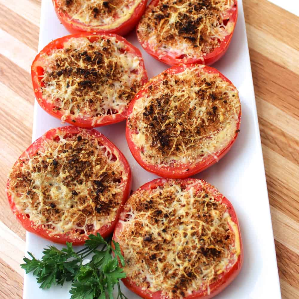 Broiled Parmesan Tomatoes from Living Well Kitchen