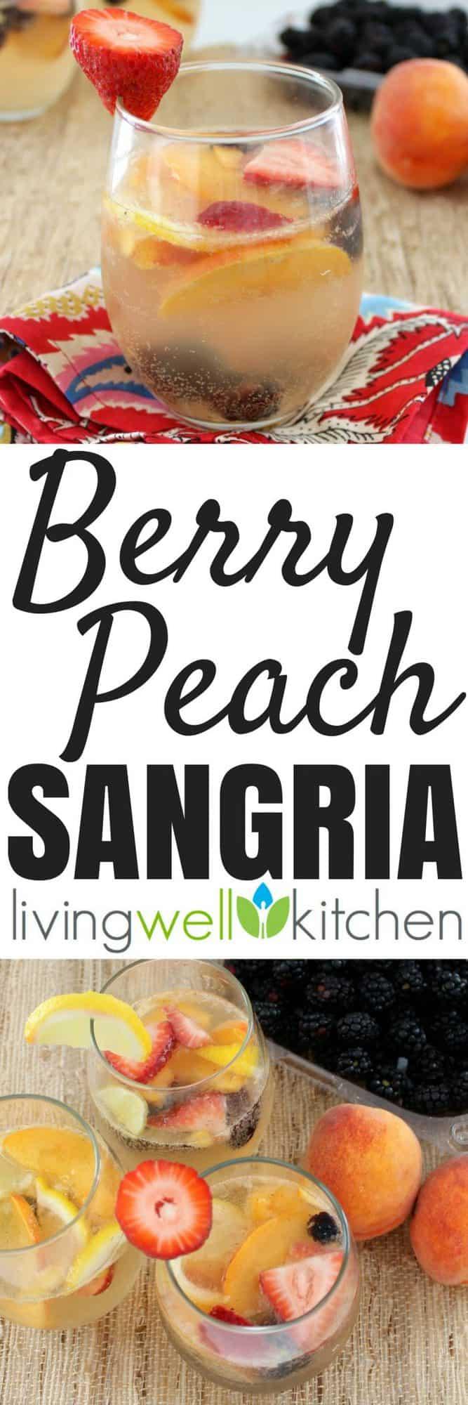 Berry Peach Sangria collage