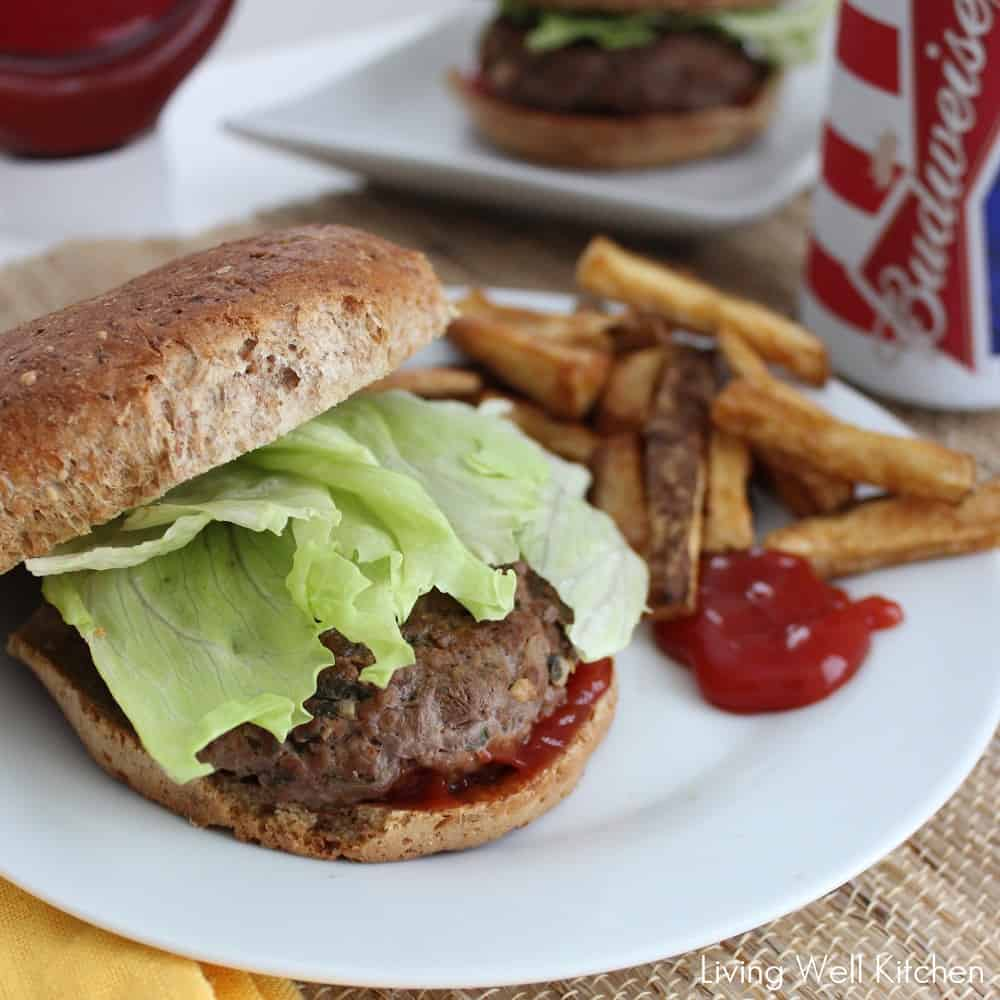 Ranch Burgers from Living Well Kitchen