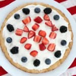 Patriotic Fruit Pizza from Living Well Kitchen