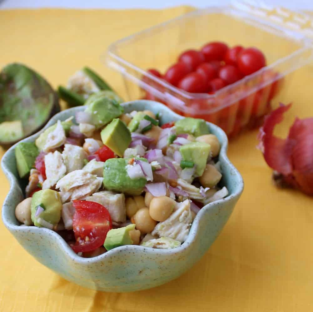 Mexican Chicken Salsa Salad from Living Well Kitchen