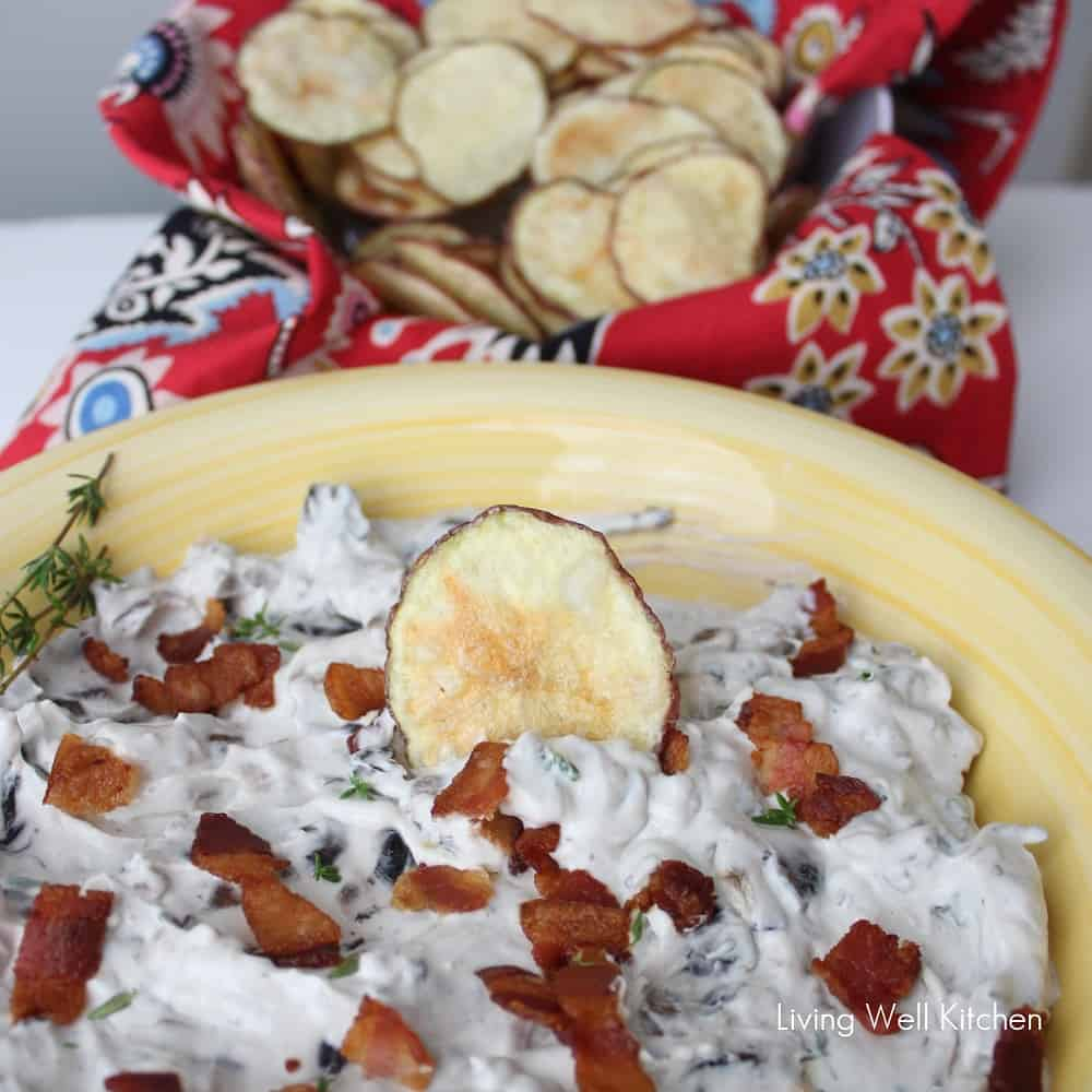 Mushroom and Bacon Dip from Living Well Kitchen