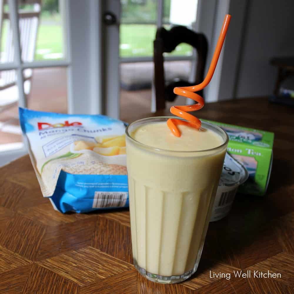Mango Green Tea Smoothie from Living Well Kitchen