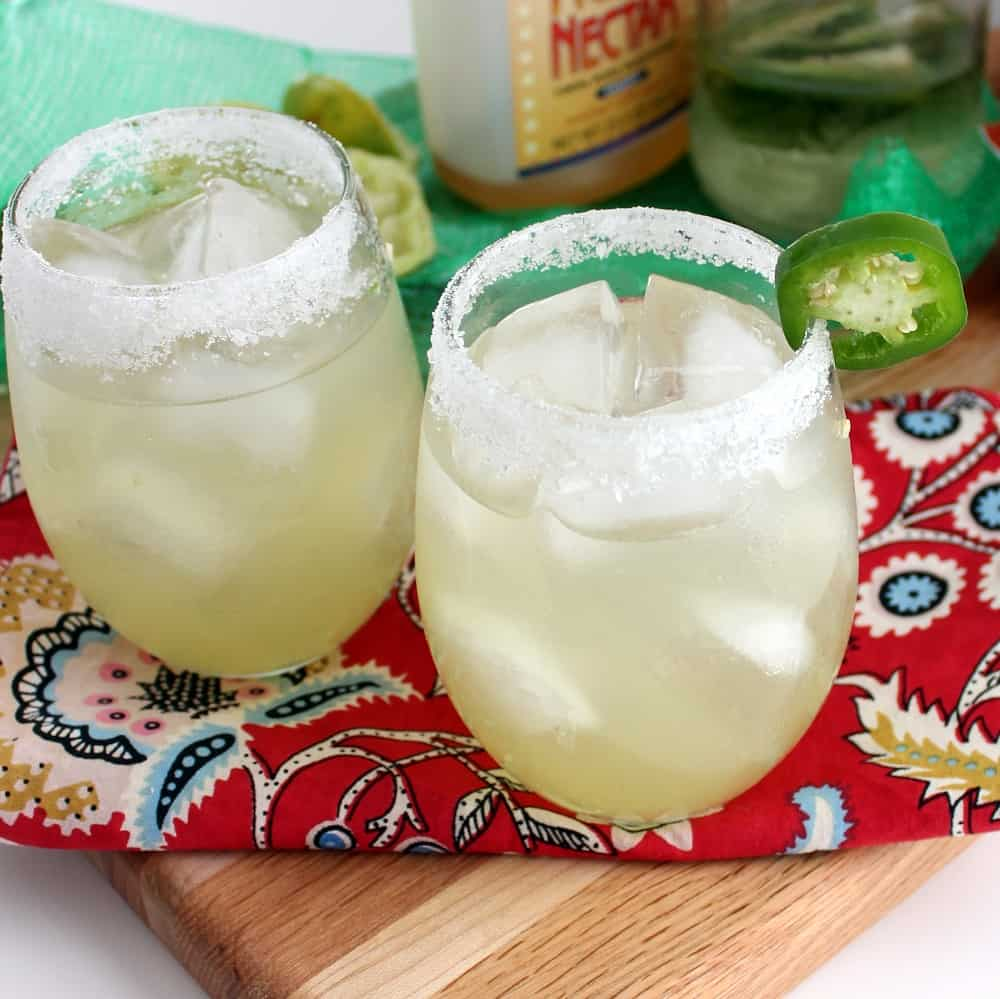 Jalapeño Margaritas from Living Well Kitchen