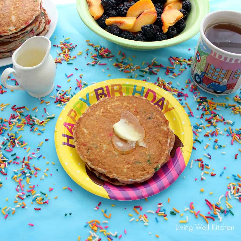 Funfetti Pancakes from Living Well Kitchen