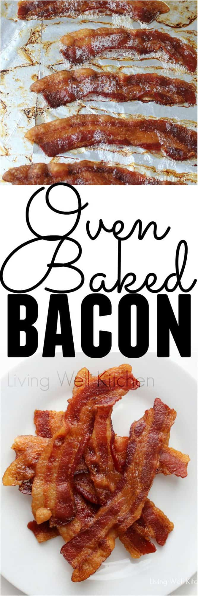 Cooking bacon in the oven is much easier and not nearly as messy or painful. This recipe for Oven Baked Bacon will change your life since you never have to labor over your bacon and risk getting continually burned