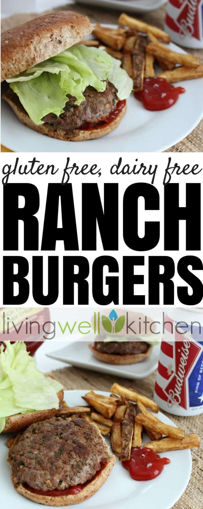 ranch burgers photo collage