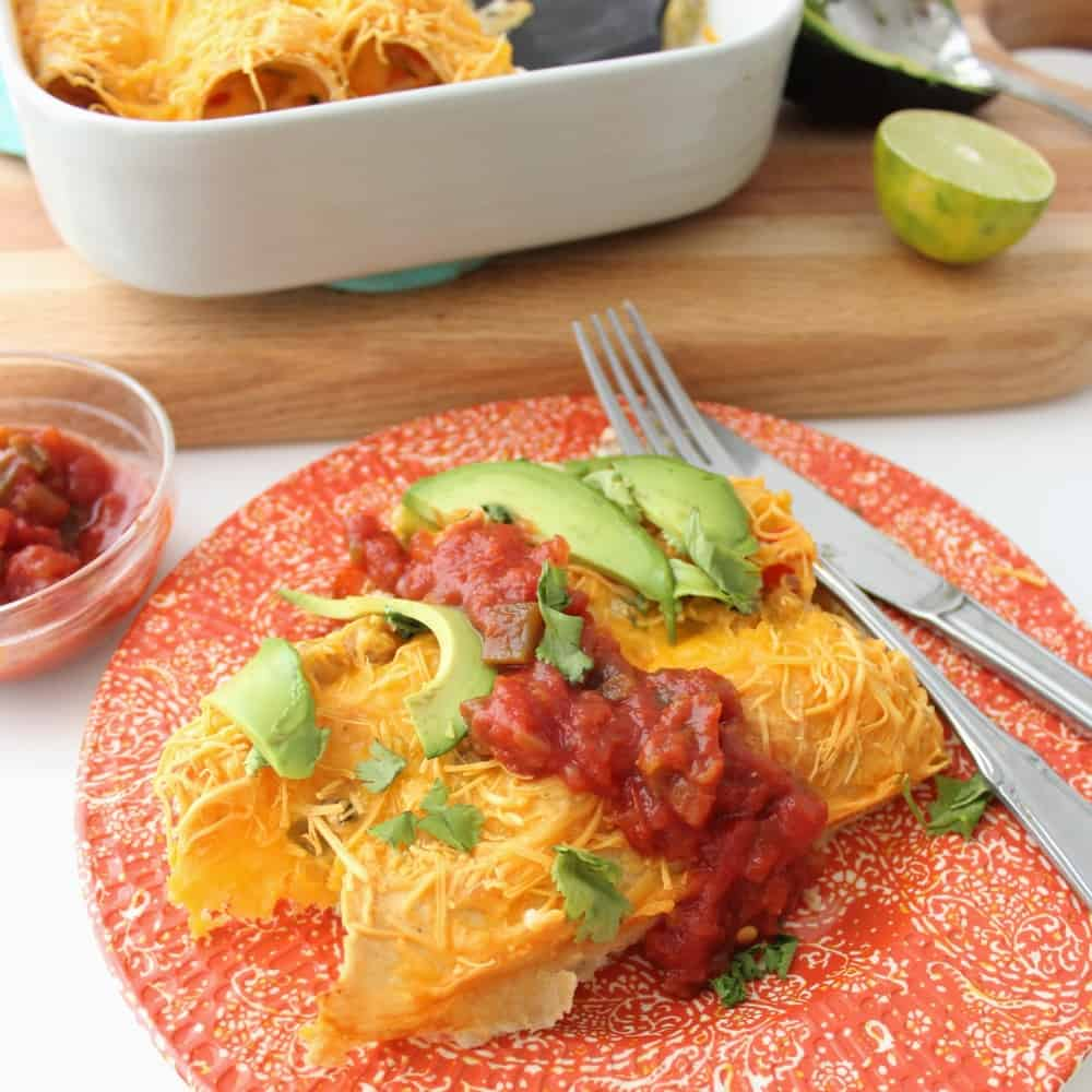 Vegetarian Breakfast Enchiladas from Living Well Kitchen