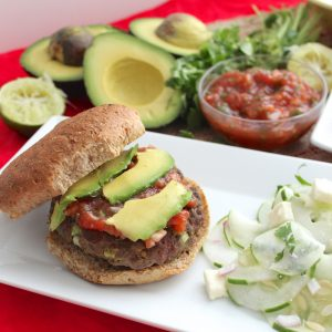 Guacamole Burgers from Living Well Kitchen