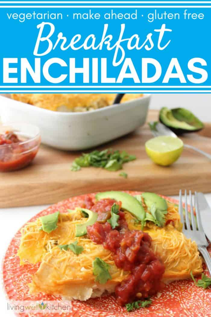 breakfast enchiladas with text overlay