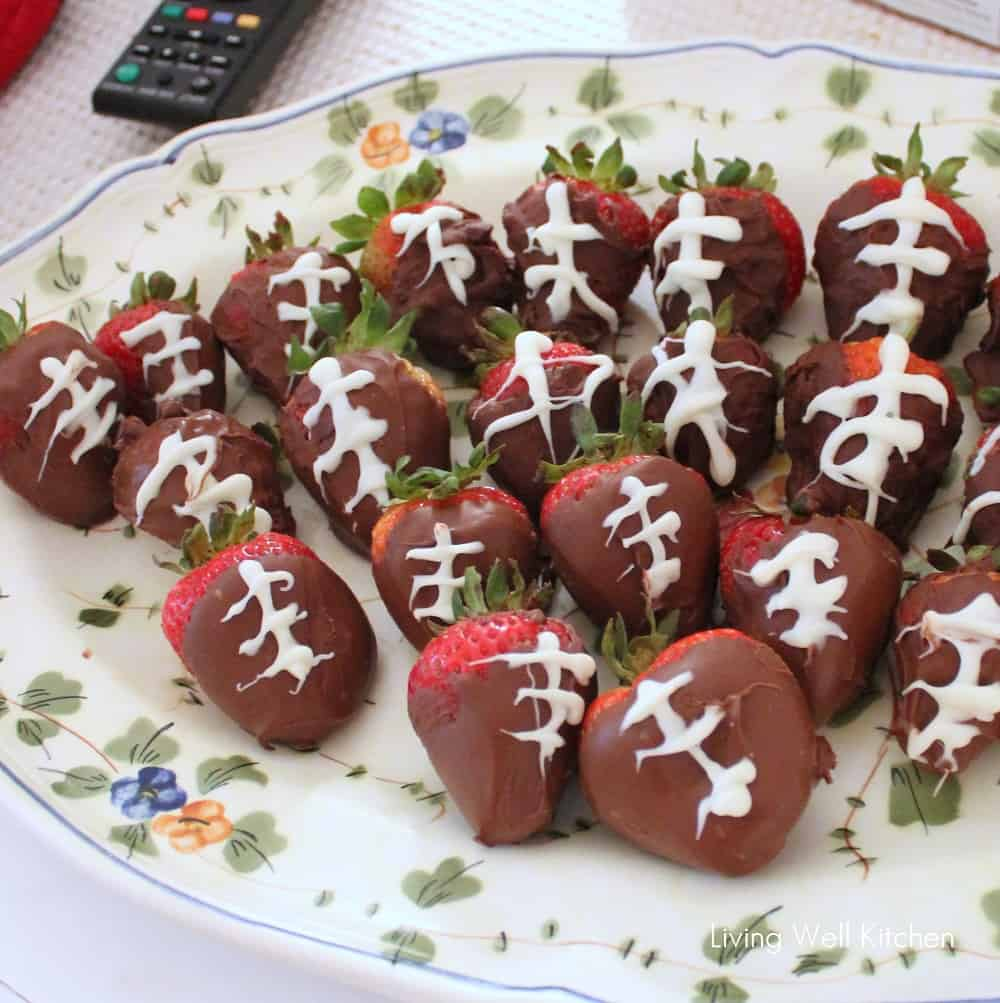 Strawberry Footballs from Living Well Kitchen