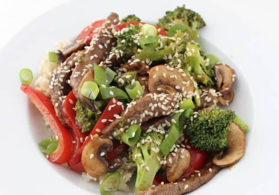 beef and veggie stir-fry