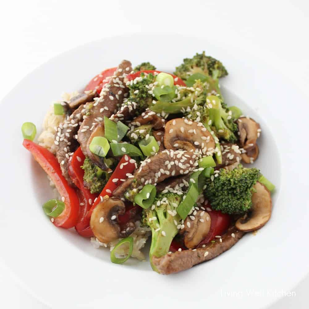 beef and veggie stir-fry