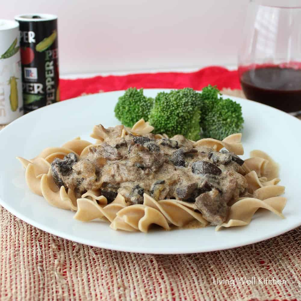 Crock Pot Beef Stroganoff from Living Well Kitchen