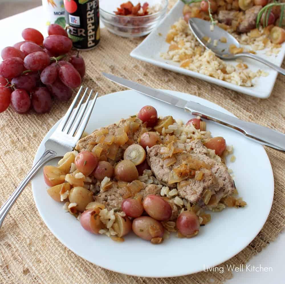 Pork Tenderloin with Grape Sauce from Living Well Kitchen