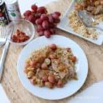 Pork Tenderloin with Grape Sauce from Living Well Kitchen #spon