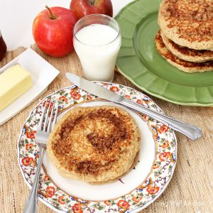 Cinnamon Roll Protein Pancakes from Living Well Kitchen