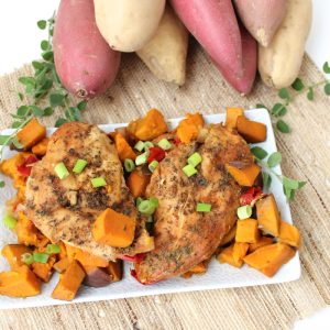 Crock-Pot Chicken, Sweetpotatoes, and Peppers from Living Well Kitchen