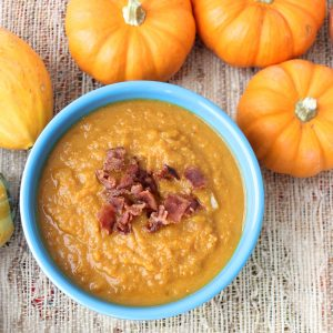 Pumpkin Soup with Bacon from Living Well Kitchen