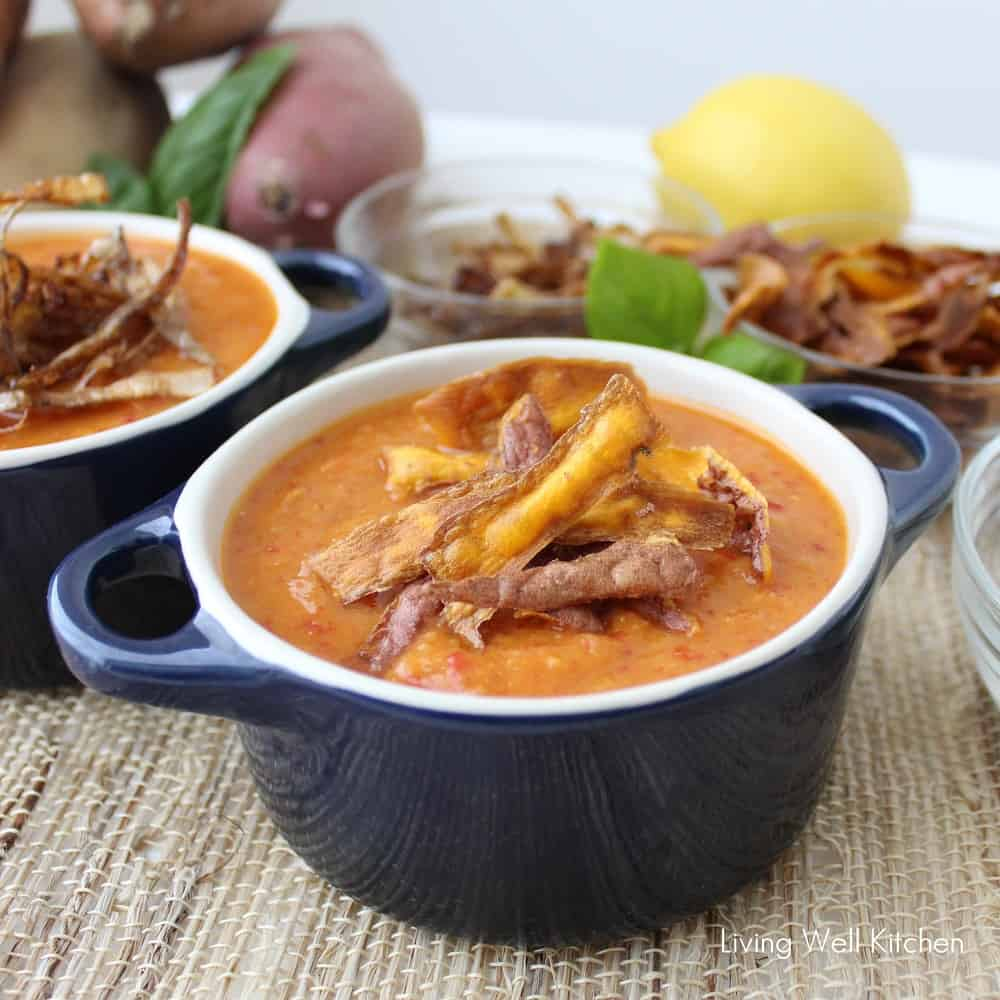 Roasted Sweetpotato and Lentil Soup from Living Well Kitchen