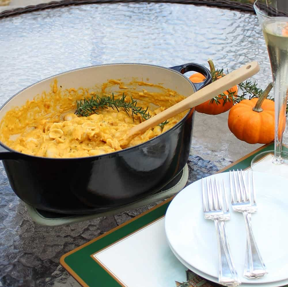 Pumpkin Macaroni and Cheese from Living Well Kitchen