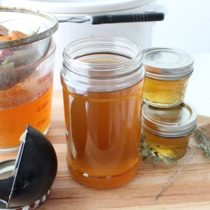 Crock Pot Vegetable Broth jars