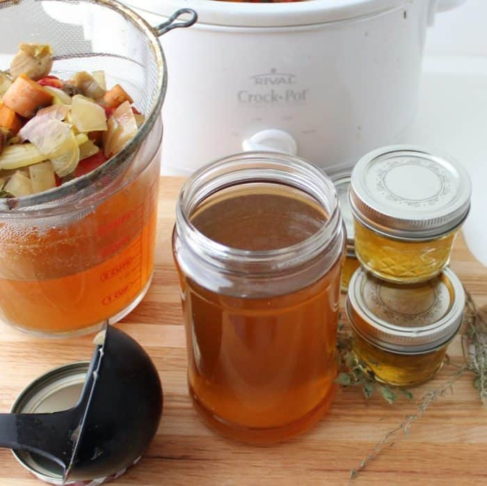 Crock-Pot Vegetable Broth from Living Well Kitchen