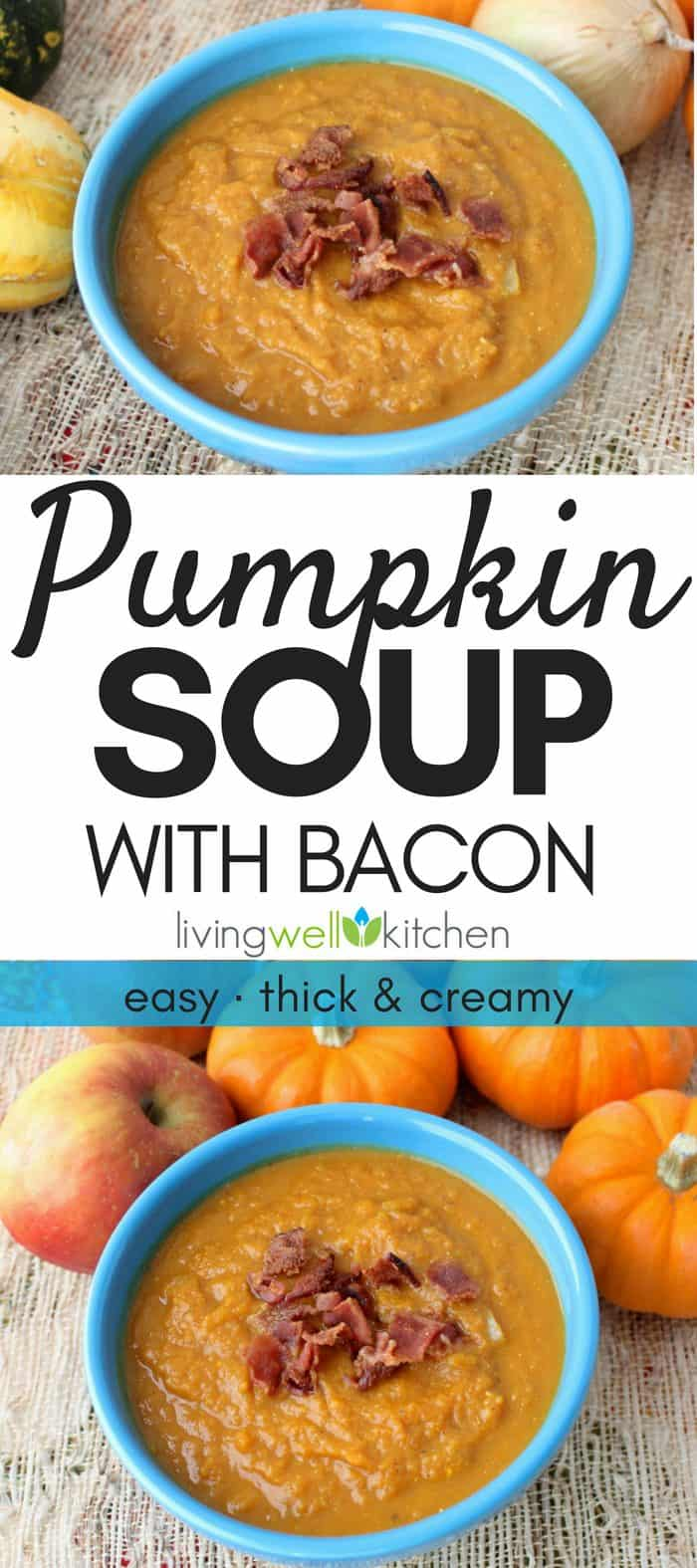 Pumpkin Soup with Bacon photo collage