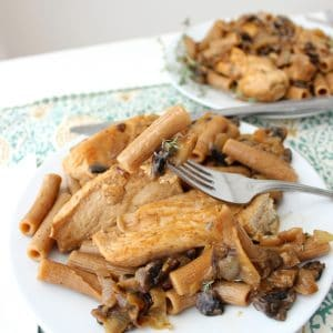 Chicken and Mushroom Pasta from Living Well Kitchen