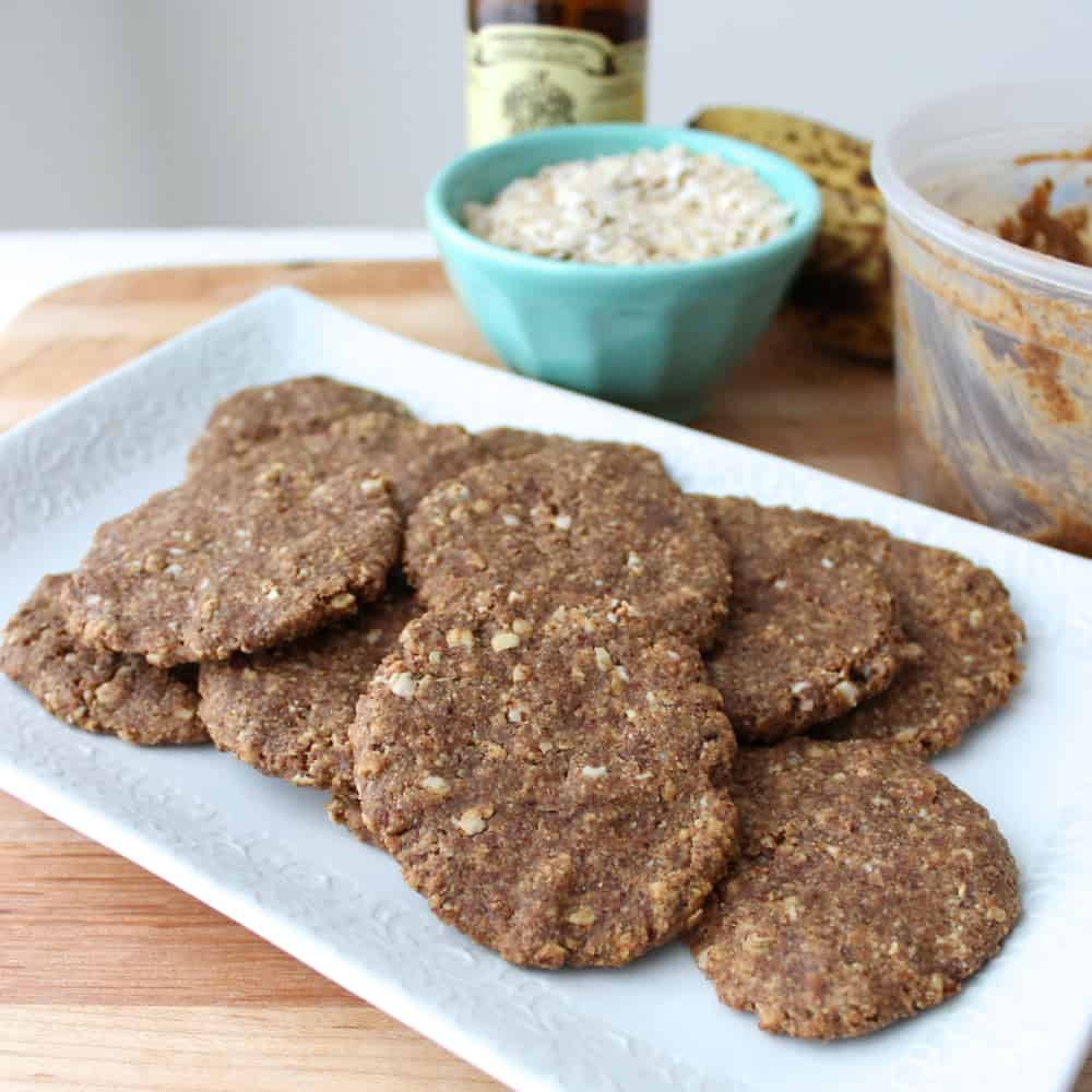plate of Almond Butter Banana Cookies