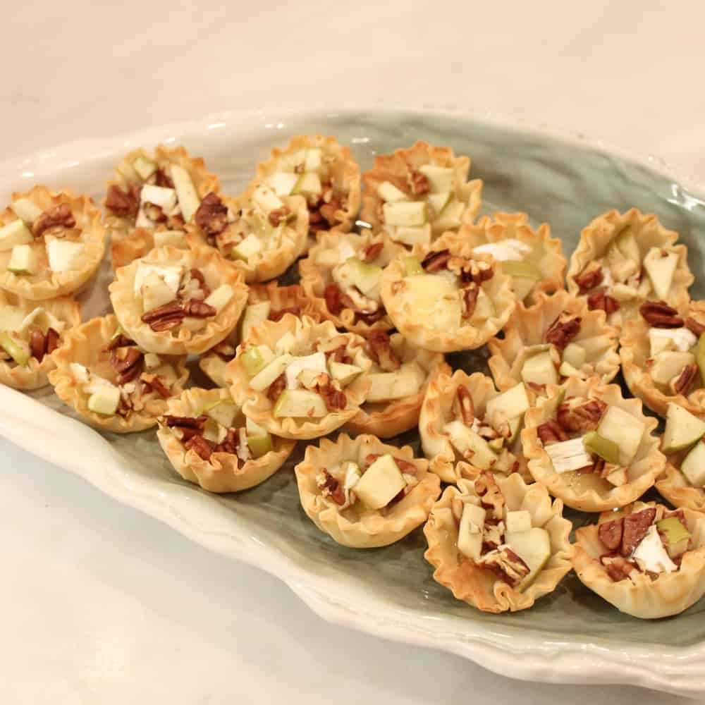 Brie and Apple Pecan Bites from Living Well Kitchen