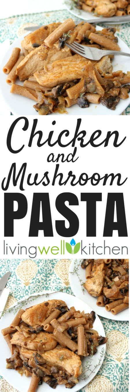 Chicken and Mushroom Pasta from @memeinge is a super easy and versatile dish that you can make sure own for aquick and deliciousdinnerin less than 30 minutes. Great recipe for using up vegetables past their prime, it is an incredibly rich and filling meal without cream or butter