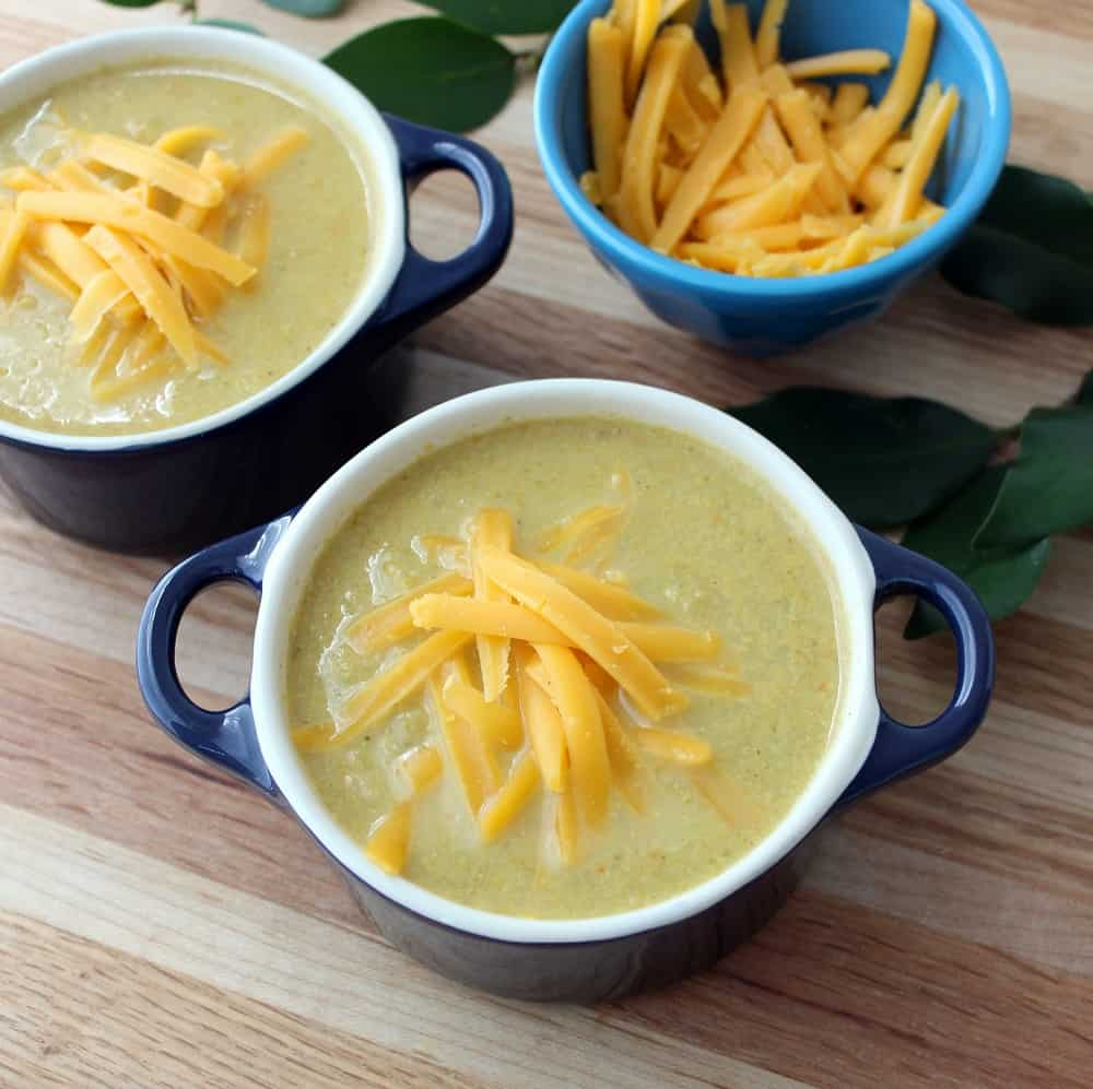 Broccoli and Cheese Soup from Living Well Kitchen